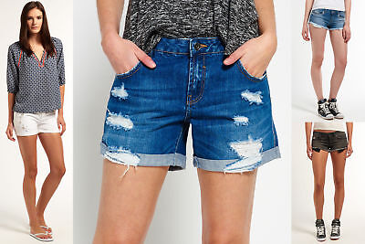 New Womens Superdry Shorts Selection - Various Styles & Colours 2304 1
