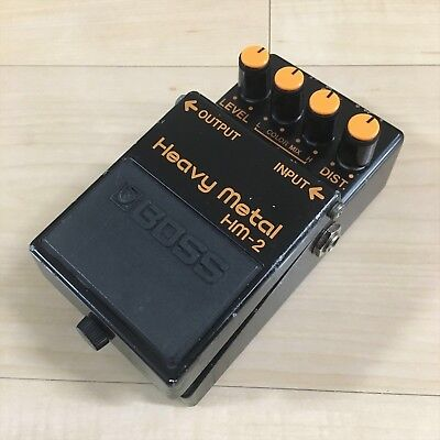 Used BOSS HM-2 Heavy Metal Distortion Electric Guitar Effects Pedal F/S JAPAN