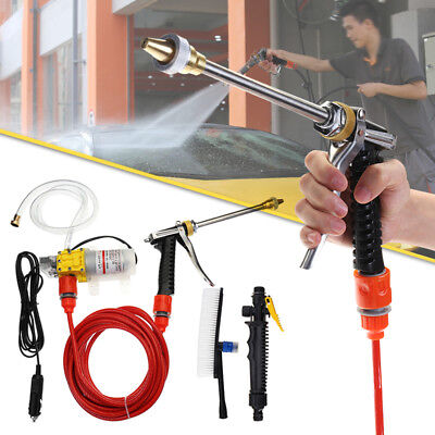 1 Set Portable High Pressure Washer Brush Water Pump Pipe Car Power Charger 100W