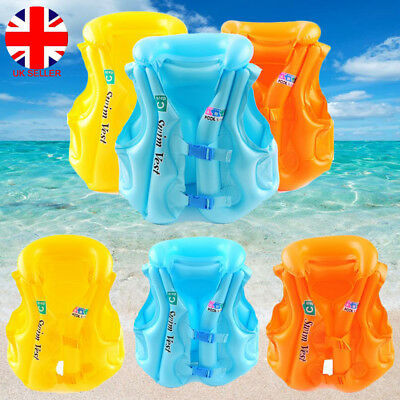Kids Child Aid Inflatable Float Life Jacket Swim Vest Arm Bands Armlets Ring UK