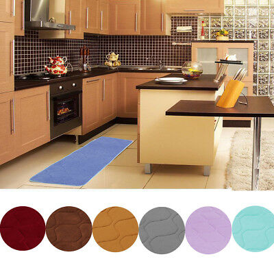120*40cm Non-Slip Memory Foam Bedroom Kitchen Door Rug Carpet Floor Mat Pads