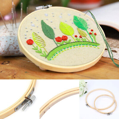 12X DIY Round Embroidery Cross Stitch Ring Hoop Frame Craft Sewing Tools 10cm 4""