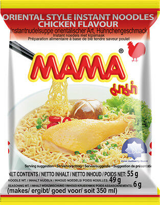 1 Karton MAMA Chicken Huhn Instant Nudel Suppe 30 x 55g Hühnchen Nudelsuppe Thai