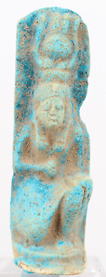 Egyptian faience Isis statue. ca. 5,7 cm.