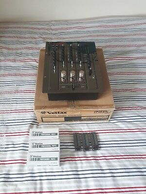 Vestax PMC-170A DJ Mixer + 3 Brand New Installed DF-17 Rotary Conversion Kit