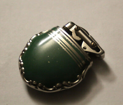 1940's KW lighter - Karl Weiden - green enamel - Solingen Germany