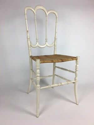 Mid Century Hollywood Regency Chiavari Painted Wood Chair