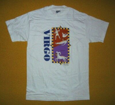 Vtg 90s 1992 PROPHECY DESIGNS White//Gray Horoscope ASTROLOGY T-SHIRT Size LARGE
