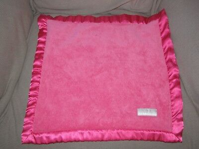 Elegant Baby Hot Pink Fuchsia Satin Smaller Security Blanket Lovey Girl
