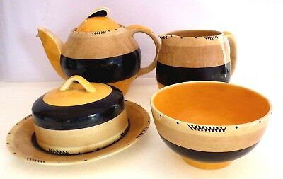 Susie Cooper Antique Tango Tea Service Set Art Deco England