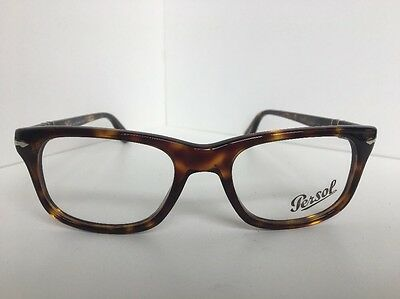 bacc6f11bcc9d New Persol 3029-V 24 Tortoise 50mm Rx Eyeglasses Frame Hand Made in Italy