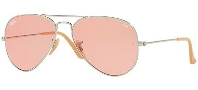 Ray Ban 3025 58 Aviator Evolve 9065 v7 9065V7 Silver Sunglasses Occhiale  Sole 0a648b51f113