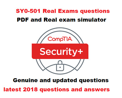 CompTIA Security+ SY0-501 verified exam questions