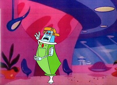 Hanna-Barbera 1985 The Jetsons Original Hand Painted Cel & Copy Background Art.