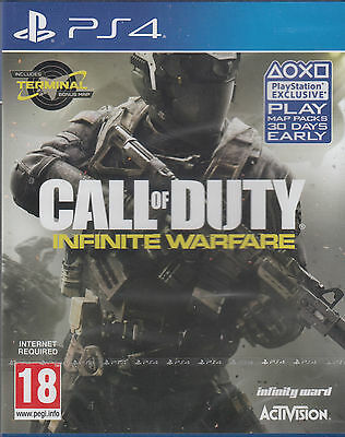 Call of Duty Infinite Warfare PS4 Zombies Terminal Map Sony PlayStation 4 USED
