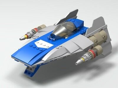 Lego Star Wars A Wing Star Fighter Moc Instructions And Parts List
