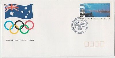 Stamp Australia 1993 Olympic Games pre-printed cover Sydney commem postmark