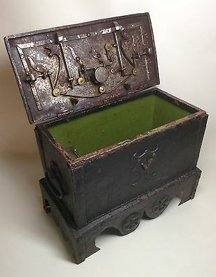 Mid 16th Century Wrought Iron Money Casket Armada Chest Nuremberg Eisenkassette.
