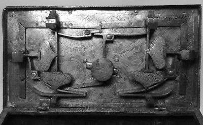 16th,17th Century Iron Etched Casket.  Armada Chest Nuremberg Eisenkassette.