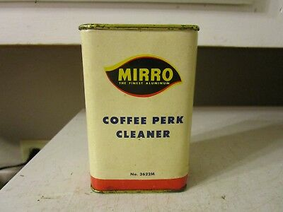 Vintage ADVERTISING BOX MIRRO COFFEE PERK CLEANER ESTATE FIND