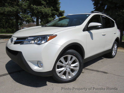 Toyota RAV4 LIMITED LIMITED 4 dr Automatic Gasoline 2.5L 4 Cyl  WHITE