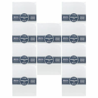 Geographics 46102 1000ct Matte White Professional Business Cards - 10 Pack