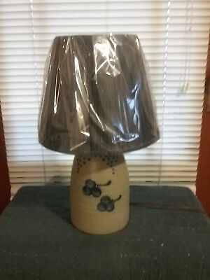 Rowe Pottery Lamp Dated 1992 Cherry Pattern