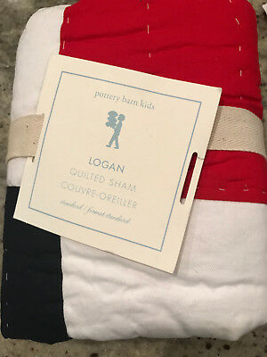Pottery Barn Kids Logan Standard Quilted Sham NEW