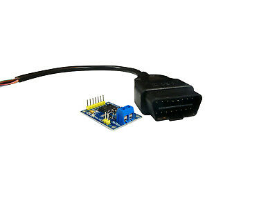 MALE OBDII OBD2 Adapter Cable 16p + MCP2515 CAN Bus Transceiver Arduino Shield