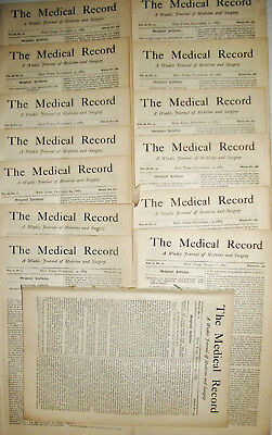 Large Collection Medical Magazines Medical Record 1885 Surgery Nyc Std Diseases