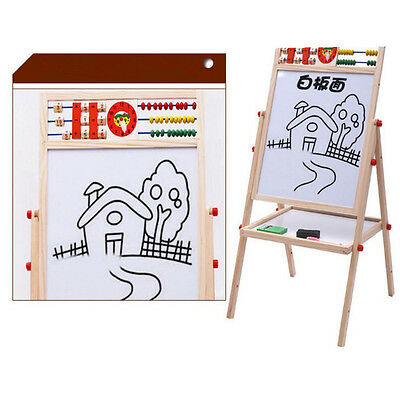 Magnetic All in 1 Kids Drawing Painting Chalk Art Board Wooden Artist Easel