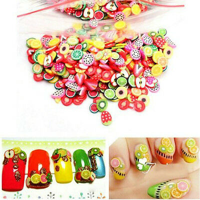 Lot 1000x Nail Art Mix Fimo Slices Polymer Clay Stickers Decoration Manicure DIY