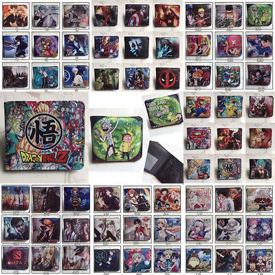 Movies Superhero Anime Cartoon Series Wallet Holders Coin Purse PU Leather Gift