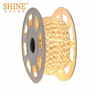 2835 Dimmable 110V 15m/49ft Led Flexible Strip Tape Rope Light with Accessories