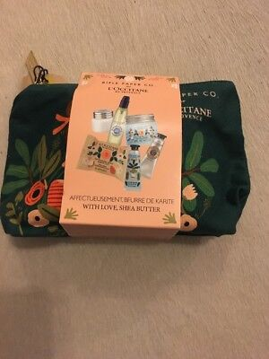 Rifle Paper Co L'Occitane Shea Butter Bag And Essentials