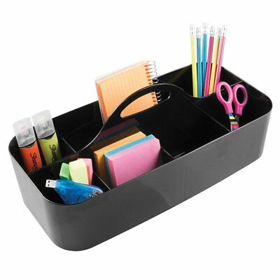 mDesign Large Office Caddy Storage Container & Organizer Tote with Built-in Hand
