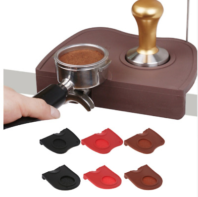Barista Coffee Tamper Mat Rubber Silicone Corner Bench Top Cafe Accessory