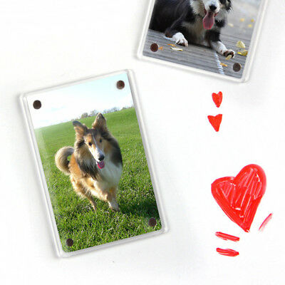 Acrylic Magnet Photo Frame Fridge Photo Display For Fujifilm Instax Mini 8+/9 HC