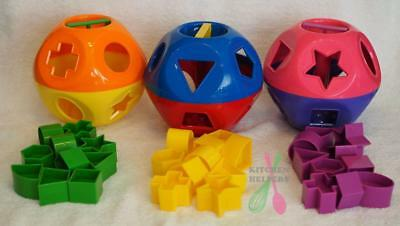 Tupperware Shape O Ball Child/Baby Developmental Sorting Toy -Choose a color New