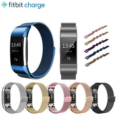 Für Fitbit Charge 2 Uhrenarmband Armband Edelstahl Milanese Watchband Magnetic
