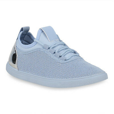 MUST-HAVE DAMEN SCHUHE 114362 SNEAKERS BLAU 38 STYLISCH