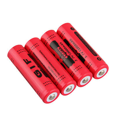 1/4X 18650 3.7V 12000mAh Rechargeable Li-ion Battery for LED Torch Flashlight IU