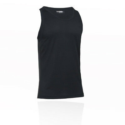 Under Armour Mens Tech Tank Top Black Sports Gym Running Breathable Lightweight