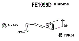 Ford Mondeo ST  2.0 2.2 Tdci Hatchback Saloon 2004-2007 Rear Exhaust - FE1096D