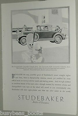 1929 Studebaker advertisement, STUDEBAKER President Eight Cabriolet, Art Deco