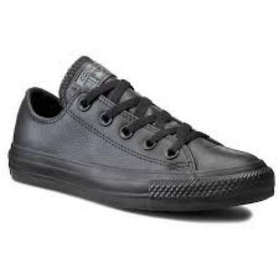 4a5cebe70718 converse mens chuck taylor black ox lo trainer shoe new leather 135253c 7.5  - 11