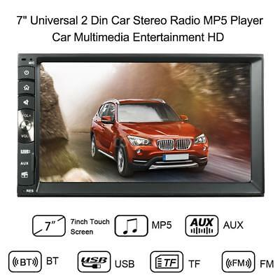 7'' Bluetooth Touch Screen Double Din Car MP3 MP5 Player Stereo FM Radio USB AUX