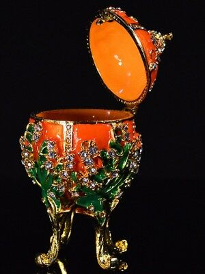 Orange Russian Metal religious mascot Collection Faberge egg