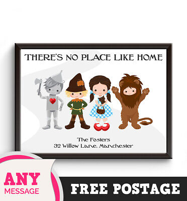 PERSONALISED WIZARD of OZ Print Word Gift Housewarming New Home Moving Picture