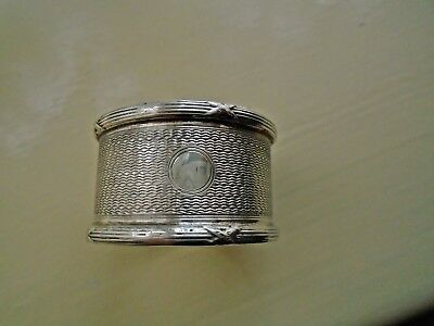 Antique Solid Silver Hallmarked Napkin Rings,Single & pair.